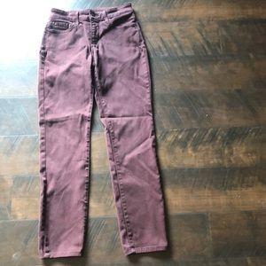 NYDJ Deep Maroon Pants. Size 2.
